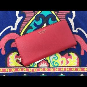 Kate Spade Cameron Hot Chili Wallet NWT